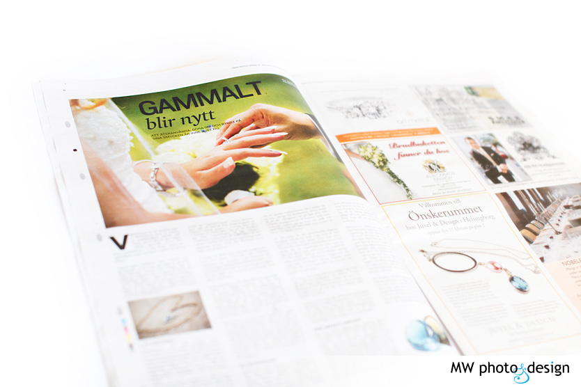 Bröllopsfotograf, Helsingborgs Dagblad, Bröllopsbilaga, Helsingborg